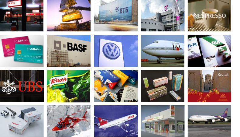Brand Mosaik: Wie und Wo das Markenlogo eingesetzt wird muss auch schon in der Design Phase berücksichtig werden.