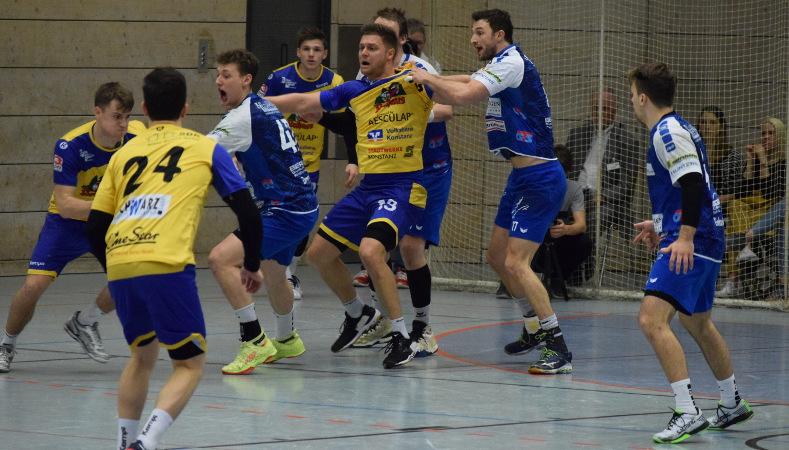 HSG Konstanz Superball 2019 - TSB Heilbronn-Horkheim Abwehr hält dem Druck stand.