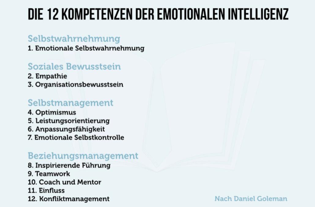 Emotionale Intelligenz im Beruf (Kompetenzen und Schlüsselbereiche)